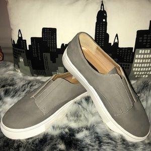 Grey Nubk Steve Madden Shoes